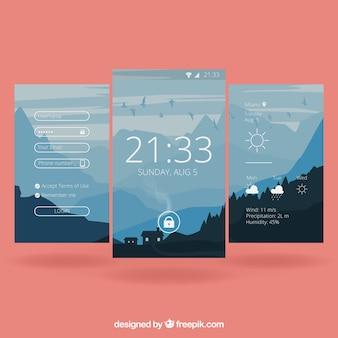 Papéis de parede de paisagem móvel