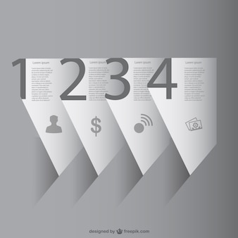 Papel 3d infográfico vetor