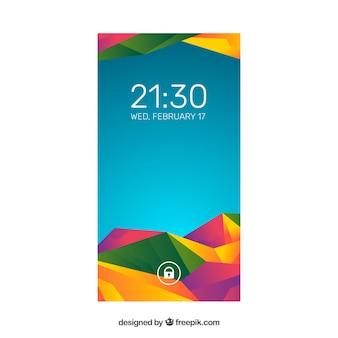 Papel de parede abstrato colorido colorido bonito de celular