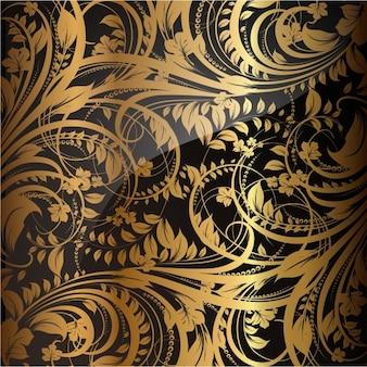 Papel de parede padrão têxtil retro do vintage