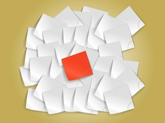 Papelada material de escritório folhas de vetor