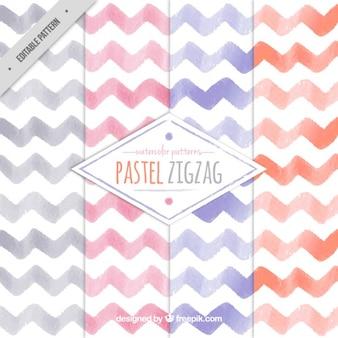 Pastel padrão de zig-zag
