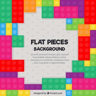 Pedaços coloridos de fundo do jogo em design plano