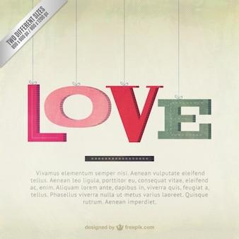 pendurado cartas de amor