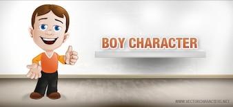 personagem de desenho animado menino