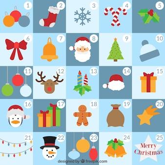 Personagens de Natal Calendário