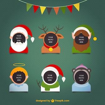 Personagens de Natal Frames Colecção