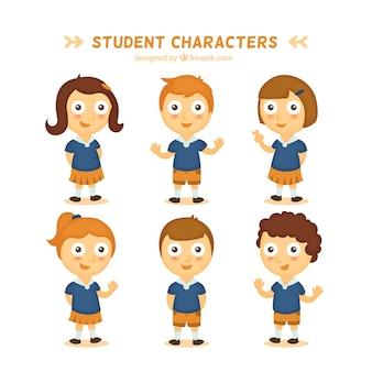 Personagens engraçados do estudante