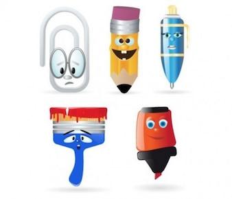 Personagens ícones de escritório conjunto