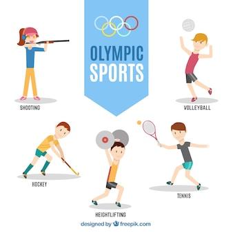 Personagens prontos para os Jogos Olímpicos