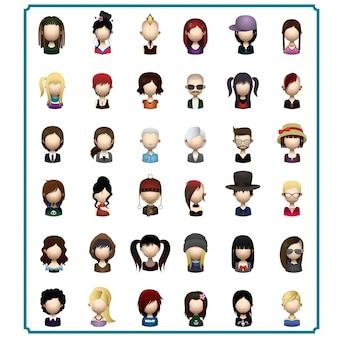 Pessoas de coleta avatars