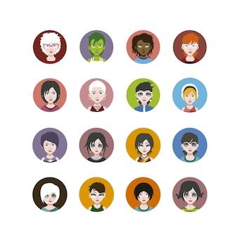 Pessoas, ícones, cobrança