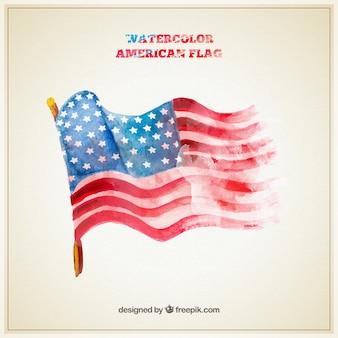Pintados à mão bandeira americana