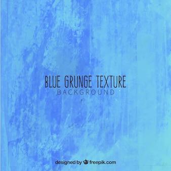Pintados à mão fundo azul do grunge