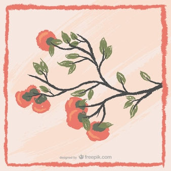 Pintura árvore coreano