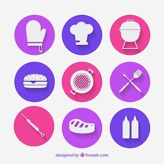 Piqueniques e churrascos ícones