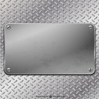 Placa de metal do vetor
