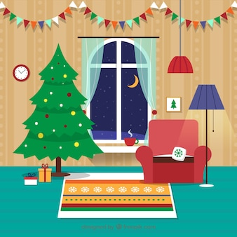 Plano de Natal Sala de Estar