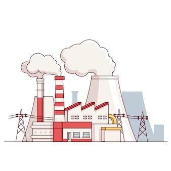 Planta de produção de energia elétrica