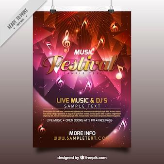 Poster colorido de festival de música