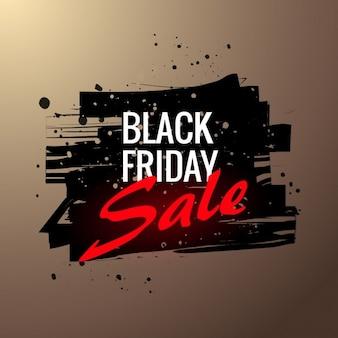 Poster da venda sexta-feira negra em estilo grunge