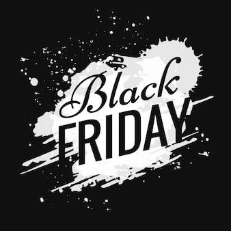 Poster de Black Friday brancas com manchas