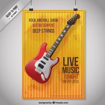 Poster de guitarra da rocha