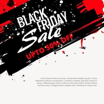 Poster de sexta-feira negra em estilo grunge