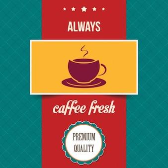 poster do café do vintage