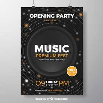 Poster do partido da música