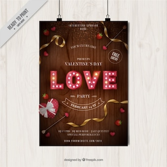 Poster do partido realista para Dia dos Namorados