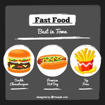 Poster Fast food