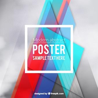 Poster moderno em estilo abstrato