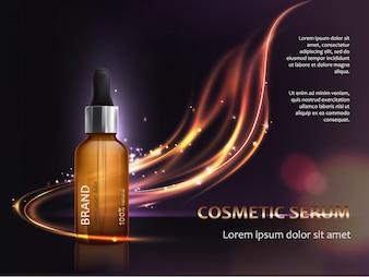 Poster para a promoção de produtos cosméticos anti envelhecimento premium