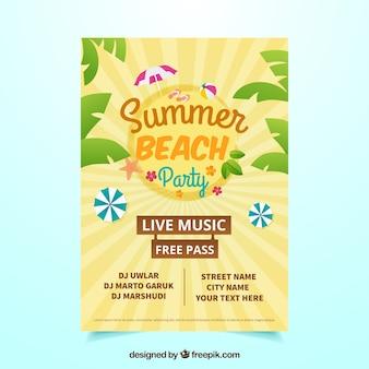 Poster retro do partido do verão