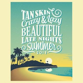 Poster Retro Vintage Summer