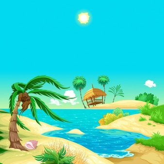 Praia dos desenhos animados