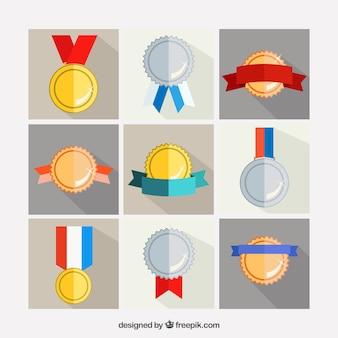 Prêmios de ouro e prata
