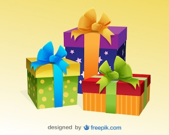 Presentes de Natal ilustração vetorial colorido