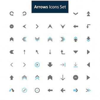 Preto e cinza Arrow icon set