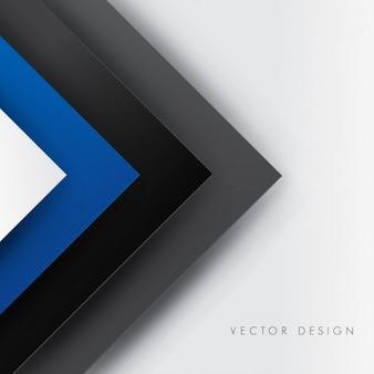 Preto e linhas azuis fundo poligonal