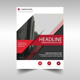Preto modelo de criativo Red capa do livro relatório anual