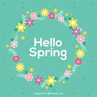 Primavera coroa de flores