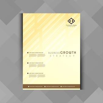 Projeto abstrato do folheto do negócio