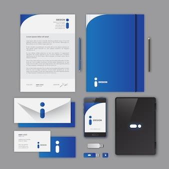 Projeto azul papelaria corporativa