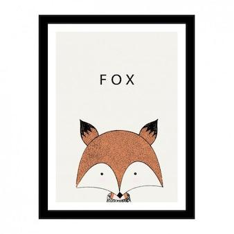 Projeto bonito fox desenhado à mão