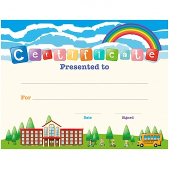 Projeto certificado de crianças