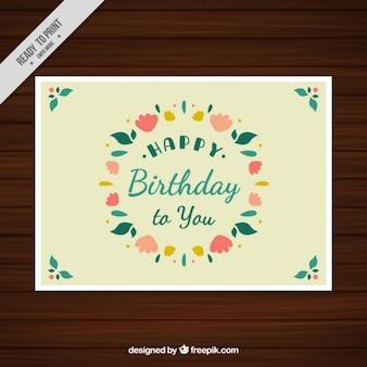Projeto Colorido cartão de aniversário