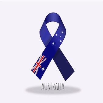 Projeto da fita da bandeira de Austrália