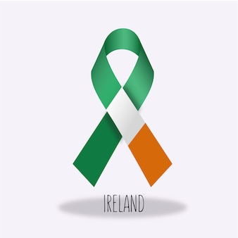 Projeto da fita da bandeira de Ireland